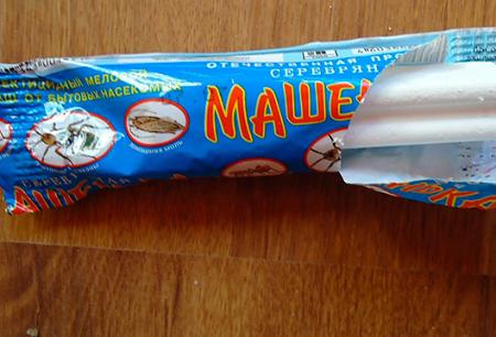 Kapur insektisida dari lipas Masha dan ulasan penggunaannya